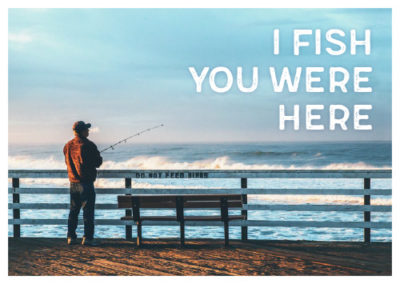 I fish you were here, Serie Meerespostkarten, Postkarten mit Meeresmotiven