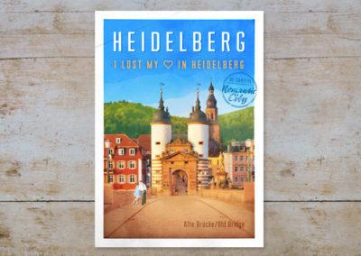 Alte Brücke, Serie Heidelberg, Postkarten & Prints