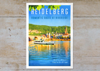 Neckarblick & Altstadt, Serie Heidelberg, Postkarten & Prints