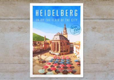 Marktplatz & Heiliggeist Kirche, Serie Heidelberg, Postkarten & Prints