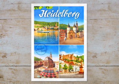 Heidelberger Stadtansichten, Serie Heidelberg, Postkarten & Prints