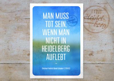 Schubart Zitat, Serie Heidelberg, Postkarten & Prints