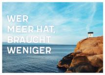 Meeres-Postkarte / Wer Meer hat, braucht weniger (Art.-Nr.: PK-MAR-01-002)