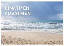 Meeres-Postkarte / Einatmen ausatmen (Art.-Nr.: PK-MAR-01-008)