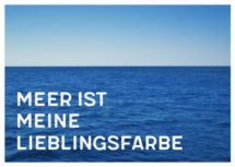 Meeres-Postkarte / Meer ist meine Lieblingsfarbe (Art.-Nr.: PK-MAR-01-010)
