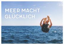 Meeres-Postkarte / Meer macht glücklich (Art.-Nr.: PK-MAR-01-016)