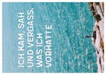 Meeres-Postkarte / Ich kam, sah und vergass, was ich vorhatte (Art.-Nr.: PK-MAR-01-007)